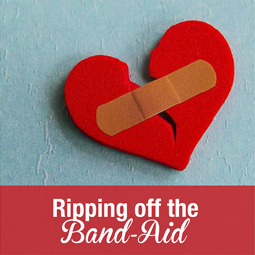 how to take off a bandaid